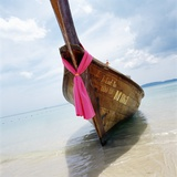 Traditional long tail boat, Thailand Photographic Print