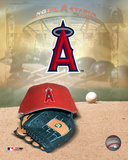 Anaheim Angels - '05 Logo / Cap and Glove Photo
