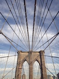 Low angle view of suspension cables, Brooklyn Bridge, New York City, New York, USA Photographic Print
