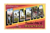 Greeting Card from Helena, Montana Giclee Print