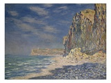 Falaise, near Fecamp Giclee Print by Claude Monet