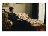 Meditation: Madame Monet on a Couch Giclee Print by Claude Monet