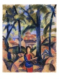 Girl with Collected Brushwood Giclee Print by August Macke