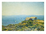 Isles of Levant, View of Cape Benat Giclee Print by Theo van Rysselberghe