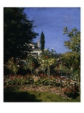 Garden in Bloom Giclee Print by Claude Monet