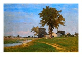 Old Elm at Medfield Giclee Print by George Inness