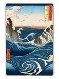 Tourbillon et vagues à Naruto, Province d'Awa Reproduction procédé giclée par Ando Hiroshige