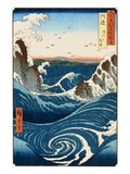Whirlpool and Waves at Naruto, Awa Province Giclee Print by Ando Hiroshige