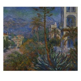 The Villas at Borighera Giclee Print by Claude Monet