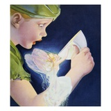 Book Illustration of Tinkerbell Saving Peter Pan by Roy Best Giclee Print