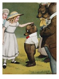 Illustration Depicting a Girl Patting a Little Bear by Peter Newell Giclee Print