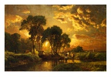 Medfield, Massachusetts Gicleetryck av George Inness