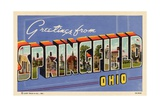 Greeting Card from Springfield, Ohio Giclee Print