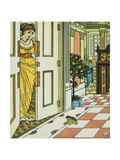 Frog Prince Book Illustration: Princess and Frog Giclee Print by Walter Crane