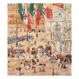 Piazza of Saint Marks Giclee Print by Maurice Brazil Prendergast