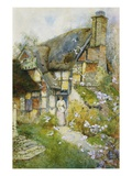 An Old Cottage near Church Stretton, Shropshire Giclee Print by David Woodlock