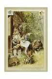 Book Illustration Depicting Snow White and the Seven Dwarfs Giclée-Druck von Hermann Vogel