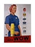 Adolph Treidler - She's a Wow Poster - Giclee Baskı