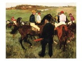 The Racehorses (Leaving the Weigh-In) Giclee Print by Edgar Degas