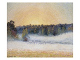 Sunset and Fog, Eragny Giclee Print by Camille Pissarro