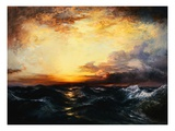 Pacific Sunset Giclee Print by Thomas Moran