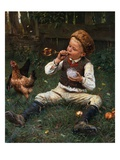 Blowing Bubbles Reproduction procédé giclée par Adolf Lins