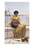 Idleness Giclee Print by John William Godward