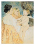 Mother, Sara and the Baby Giclee Print by Mary Cassatt