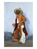 A Vaquero Giclee Print by Frederic Remington
