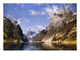 Un fjord norvégien Reproduction procédé giclée par Adelsteen Normann