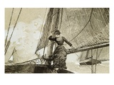 Yachting Girl Giclee Print by Winslow Homer
