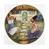 Book Illustration Showing Jack and the Goose That Laid the Golden Egg Giclee Print by Clara M. Burd