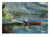 The Red Canoe Giclee Print by Winslow Homer