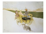 Countryside Departure Giclee Print by Henri de Toulouse-Lautrec
