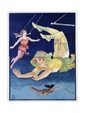Poster of Stock Trapeze Artists Giclee Print
