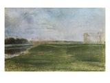Meadow Along a River Giclee Print by Edgar Degas