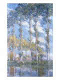 Poplars (1881) Reproduction procédé giclée par Claude Monet