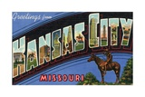 Greeting Card from Kansas City, Missouri Giclee Print