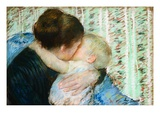 A Goodnight Hug Giclee Print by Mary Cassatt