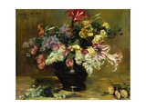 Amaryllis, Lilac and Tulips Giclee Print by Lovis Corinth