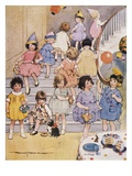 Illustration of a Children's Birthday Party by Frances Tipton Hunter Impression giclée