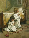 Book Illustration of Children Praying by Lizzie Lawson Photographic Print