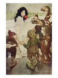 Illustration of the Dwarfs Discovering Snow White by Jessie Willcox Smith Giclee Print