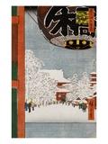 Kinryuzan Temple, Asakusa Giclee Print by Ando Hiroshige