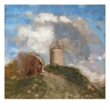 The Windmill Giclee Print by Odilon Redon