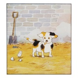 Illustration of a Puppy and a Chick from Watty: A White Puppy Giclee Print by Mrs. Ernest Ames