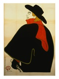 Aristide Bruant in His Cabaret Giclee Print by Henri de Toulouse-Lautrec