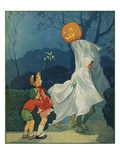 Magazine Cover Depicting Children on Halloween by Miriam Story Hurford Giclee Print