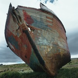 Abandoned Boat Hull Photographic Print