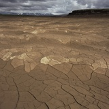 Mud Flats in Thingvellir National Park Photographic Print